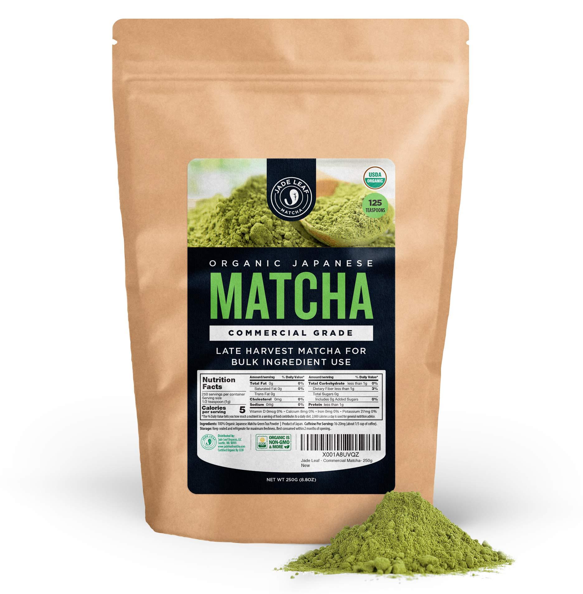 Jade Leaf - Organic Japanese Matcha Green Tea Powder, Commercial Grade - [250g Value Size] by Jade Leaf Matcha