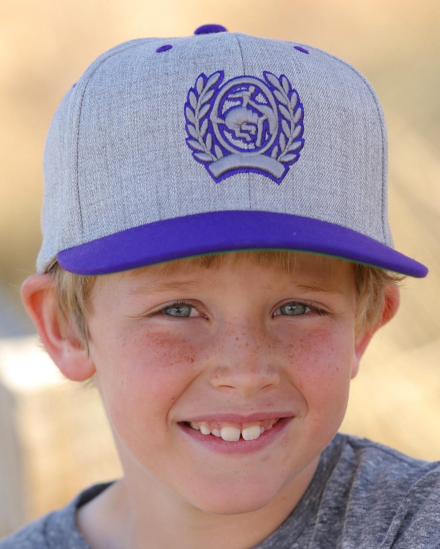Cinch Boys' Flat Bill High Profile Flexfit Cap Purple One Size