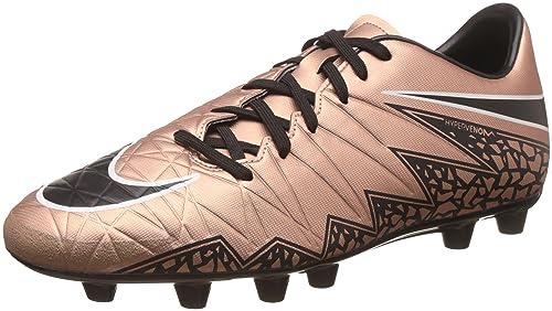 059b5b0302b Nike Men s Hypervenom Phelon Ii Hg-E Metallic Red Bronge and Black Running  Shoes -
