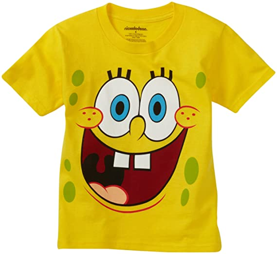 b492a984d Amazon.com  Nickelodeon Little Boys  SpongeBob Smile License T-Shirt ...
