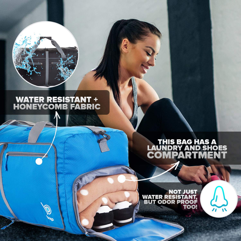 23 Foldable Travel Duffel bag Bago 60L Packable Duffle bag for women /& men