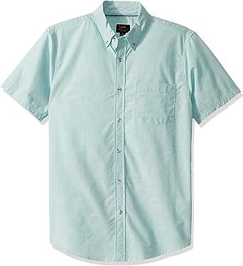Lee Camisa de manga corta con botones para hombre - verde - X ...