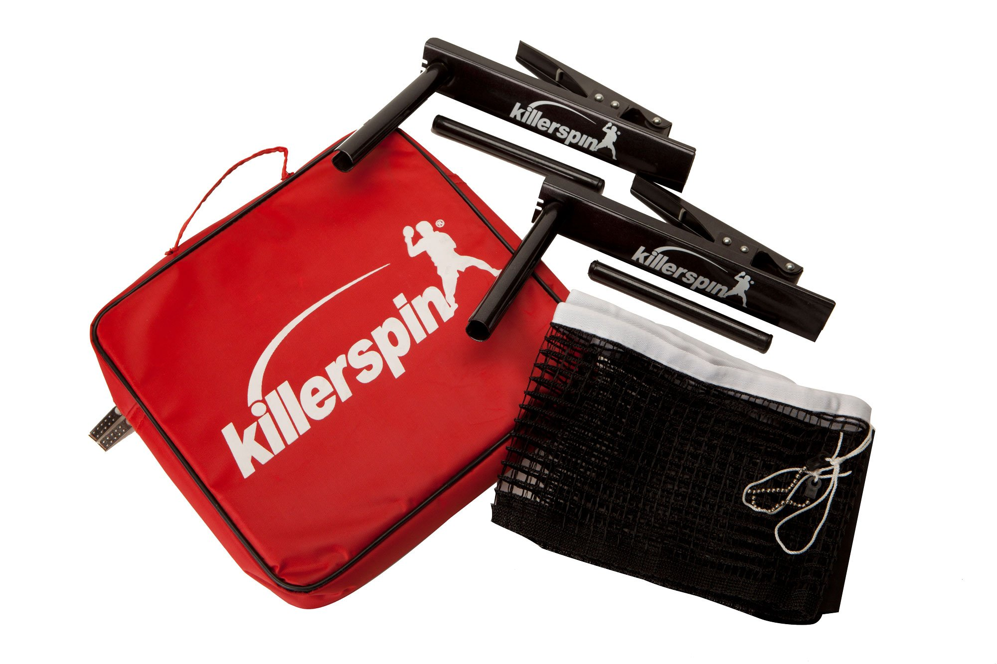Killerspin Table Tennis Clip-On Net & Post Set, Definitely The Easiest Net & Post Set to Assemble Black, Fits Most Standard Table Tennis Tablesup to A Table Width of 1''