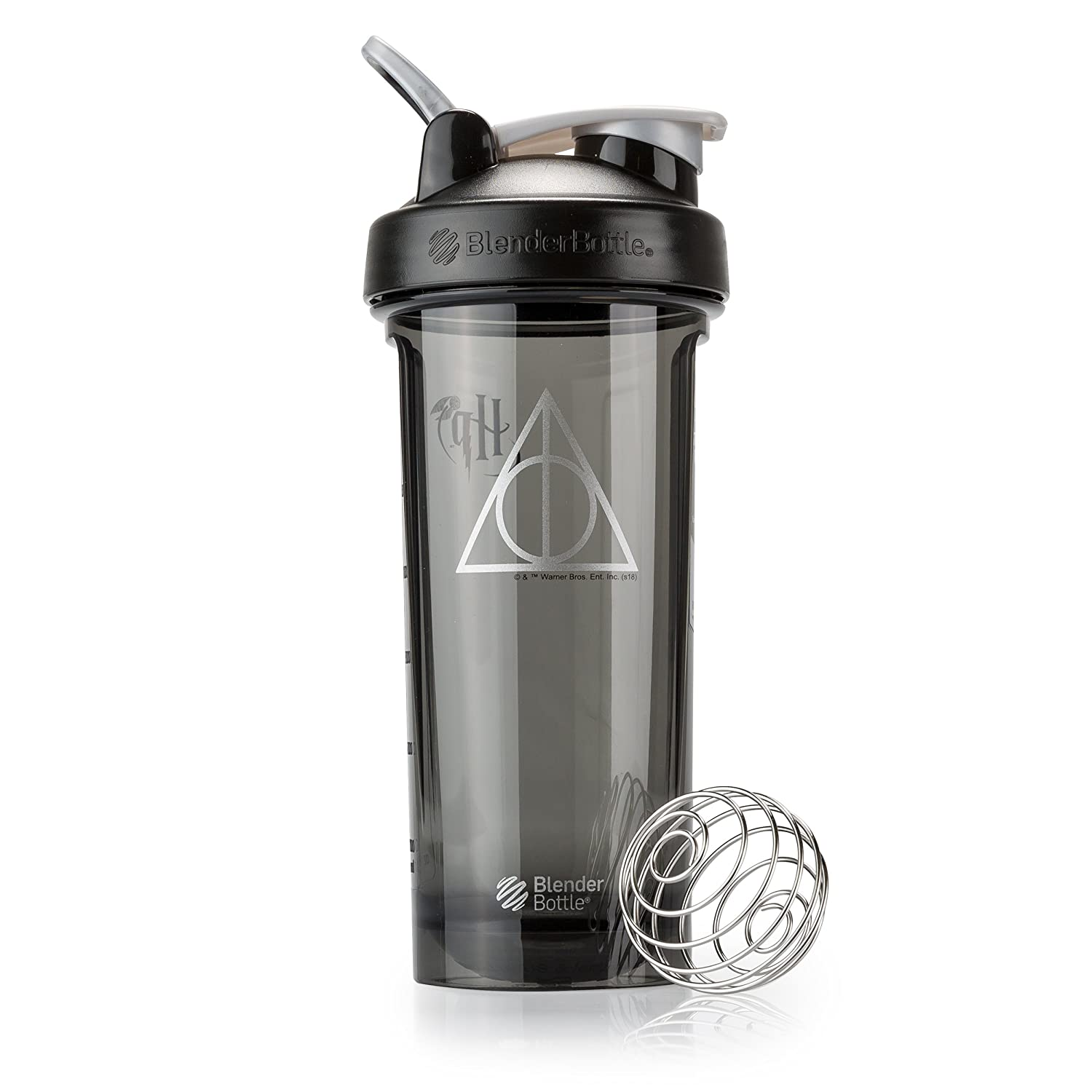 BlenderBottle Harry Potter Pro Series 28-Ounce Shaker Bottle, Deathly Hallows