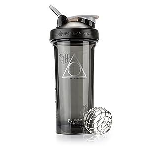 BlenderBottle Harry Potter Pro Series 28-Ounce Shaker Bottle, Deathly Hallows
