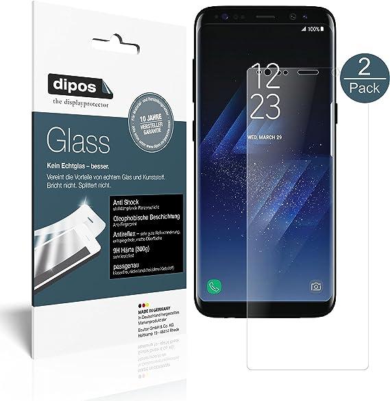 dipos I 2X Protector de Pantalla Mate Compatible con Samsung Galaxy S8 Plus Vidrio Flexible Cristal Proteccion 9H: Amazon.es: Electrónica