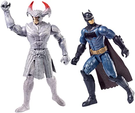 Mattel FGG85 - DC Justice League Movie Steppenwolf vs. Batman Figuren, 2er-Pack,30 cm