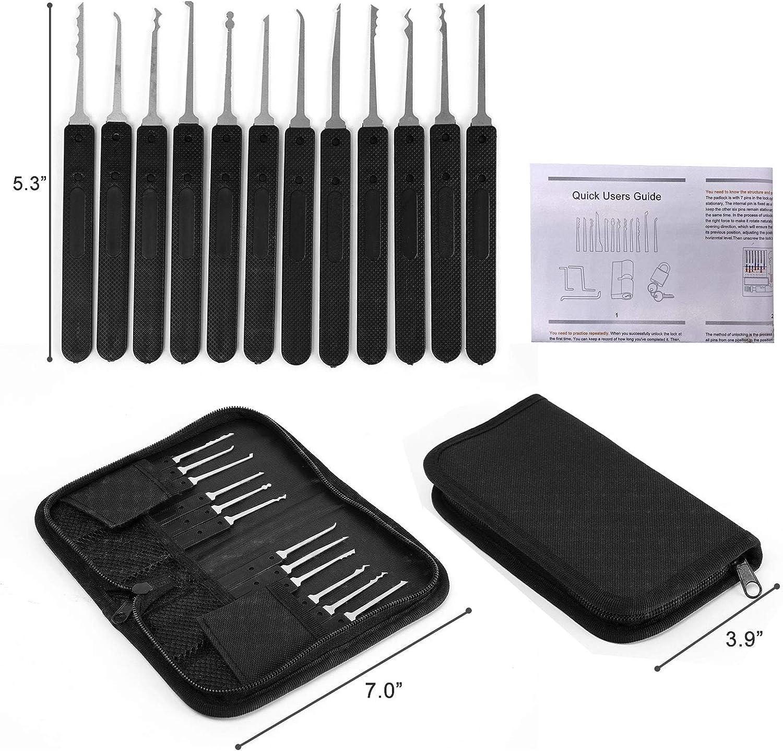 Black 17PCS Stainless Steel Multifunctional Pick Tool Set for Training