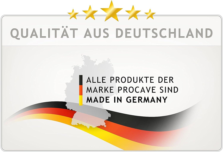 Made in Germany PROCAVE wasserdichter Matratzenbezug in/wei/ß atmungsaktiv und abwischbar/60x120/cm/f/ür Matratzen-H/öhe/4/cm/