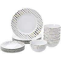 AmazonBasics 18-Piece Dinnerware Set, Service for 6 Deals