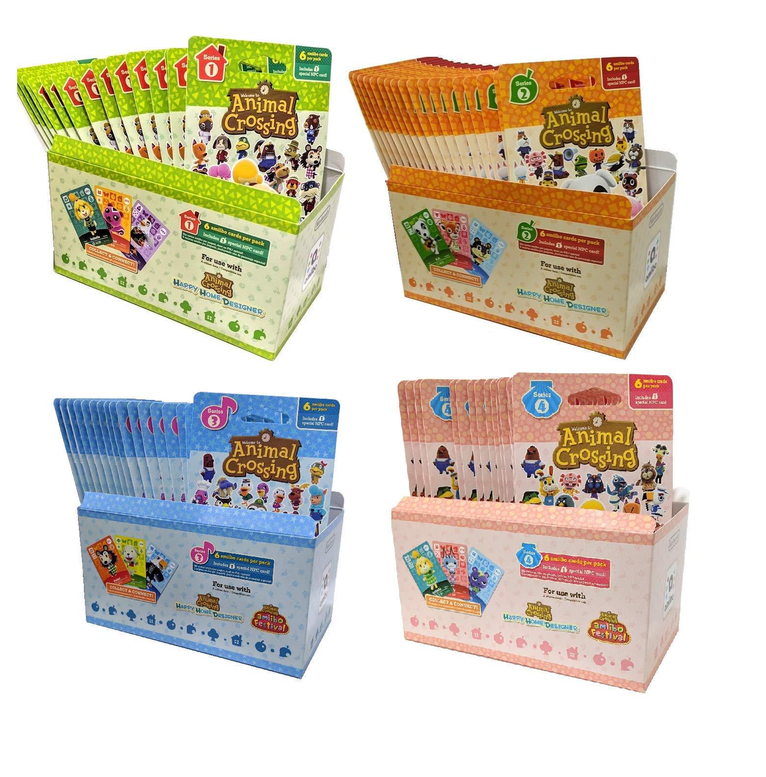 Animal Crossing Amiibo Cards Series 1 2 3 4 Set Bundle (72 Packs) (6 Cards Per Pack / 456 Cards)