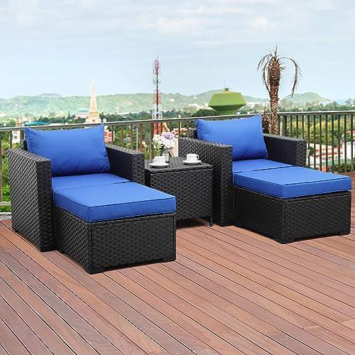 Valita 5-Piece Outdoor PE Wicker Furniture Set