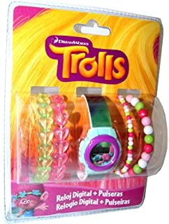 Trolls,Digital Watch & Bracelets,Gift Set, Official Licensed