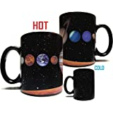 The Rising Sun Solar System Planets 11oz Color Changing Heat Sensitive Mug - Grade A Ceramic - Perfect Educational / Science / Fun Cool Mug Gift