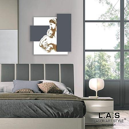 Capezzale Camera Da Letto Moderna.L A S Laser Art Style Quadro Capezzale Madonna Con Bambino Moderno