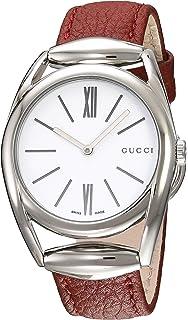 eb26448de4e9e Amazon.com  Gucci Horsebit White Dial Stainless Steel Ladies Watch ...
