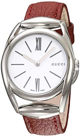 7bdf652b46d Amazon.com  Gucci Swiss Quartz Stainless Steel and Leather Watch ...