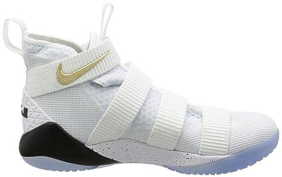 Nike Men's Lebron Soldier 11 SFG EP, White/Black-Metallic Gold:  Amazon.co.uk: Shoes & Bags