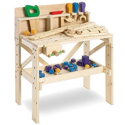 Marvelous Fao Schwarz Solid Wood Toy Workbench With Tool Set 64 Piece Set Creativecarmelina Interior Chair Design Creativecarmelinacom