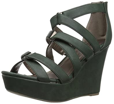 72b2377f12a Michael Antonio Women s Rett Wedge Sandal Hunter 5.5 ...