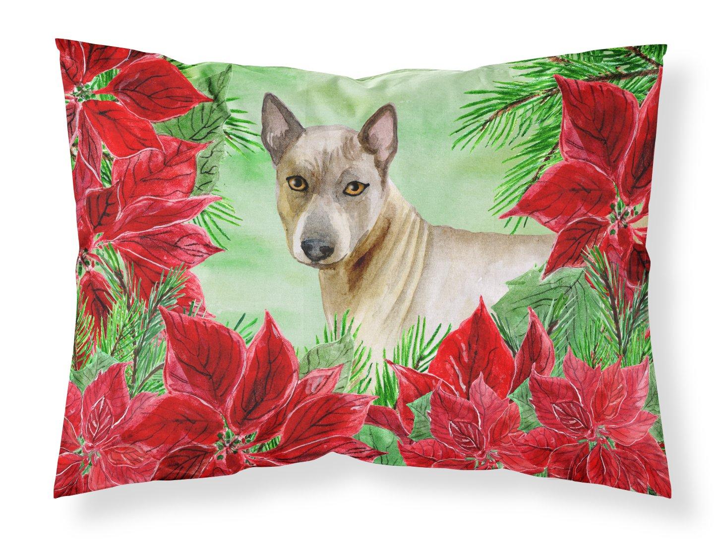 Caroline's Treasures Thai Ridgeback Poinsettias Pillowcase, Standard, Multicolor