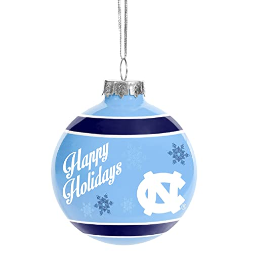 forever collectibles north carolina tar heels official ncaa holiday christmas ornament glass ball by 466994 - Amazon Christmas Ornaments