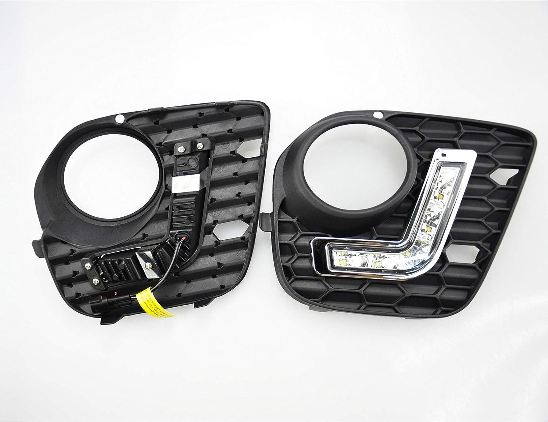 Bluetech/® Lot de 2 feux de circulation diurnes LED DRL TFL pour pare-chocs X5 E70 M avec marque de contr/ôle E et homologation