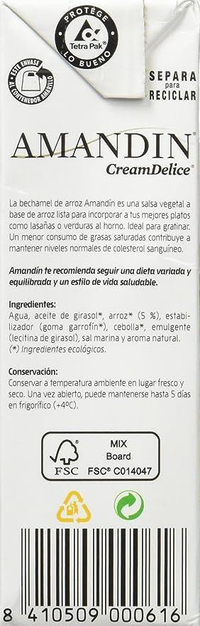 Amandin 400074 Bechamel de Arroz - Paquete de 24 x 200 gr - Total: 4800 gr: Amazon.es: Alimentación y bebidas