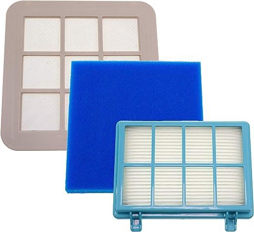 3 filtros compatibles con aspiradora Philips PowerPro Compact ...