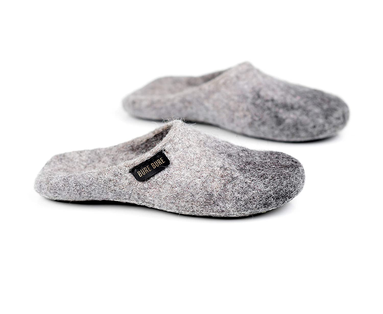 BureBure Ombre Felted Wool Slides Slippers for Men Handmade in Europe