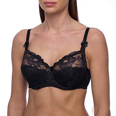 5430cc0b660 frugue Women s Plus Size Full Coverage Underwire Minimizer Padded Bra Black  34 DDD E
