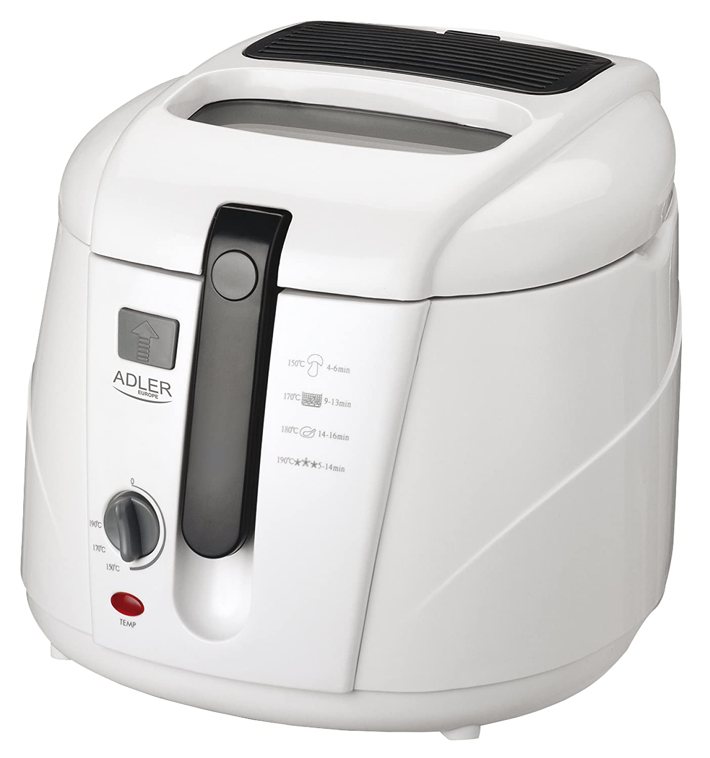 Adler AD 4906 Solo Independiente 2.5L 1800W Color blanco - Freidora (Solo, Independiente, Color blanco, Giratorio): Amazon.es: Hogar