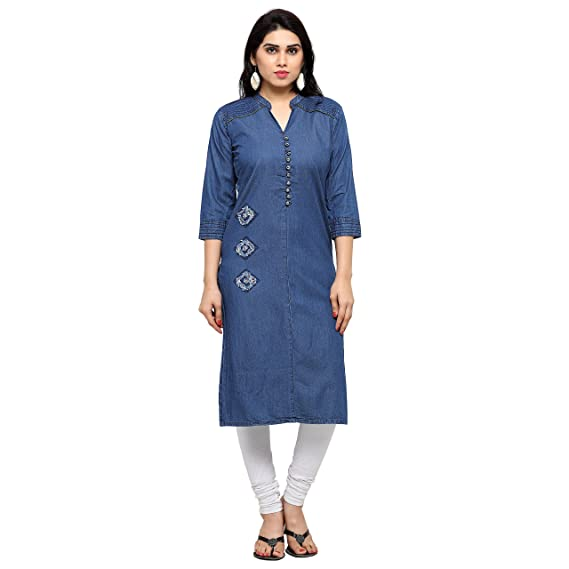 42964c3fc60 Kvsfab Women s Denim Dress Material  Amazon.in  Clothing   Accessories
