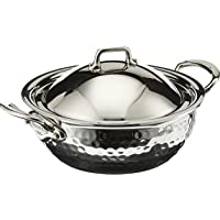 Mauviel 5272.21 M'Elite Curved splayed saute pan with lid, 7.9, Stainless