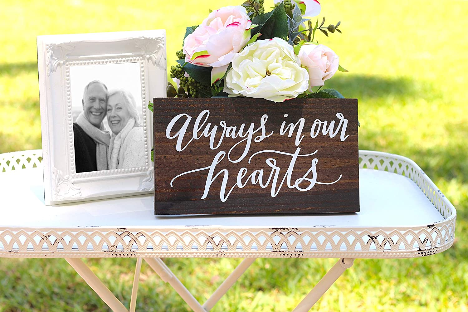 Always in Our Hearts Sign Wooden Wedding Signs Wedding Memorial Sign Remembrance Sign in Memory of Sign