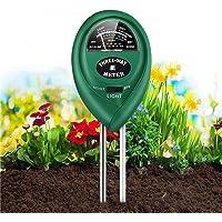 SUFUS Medidor de Suelo, Humedad del Suelo 3 en 1 Medidor de PH Medidor de Luz/Humedad/Ácido y Álcali para Plantas de…