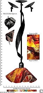 product image for Jezebel Signature Sweetgrass Pendant. Hardware: Black. Glass: Begonia, Lily Style