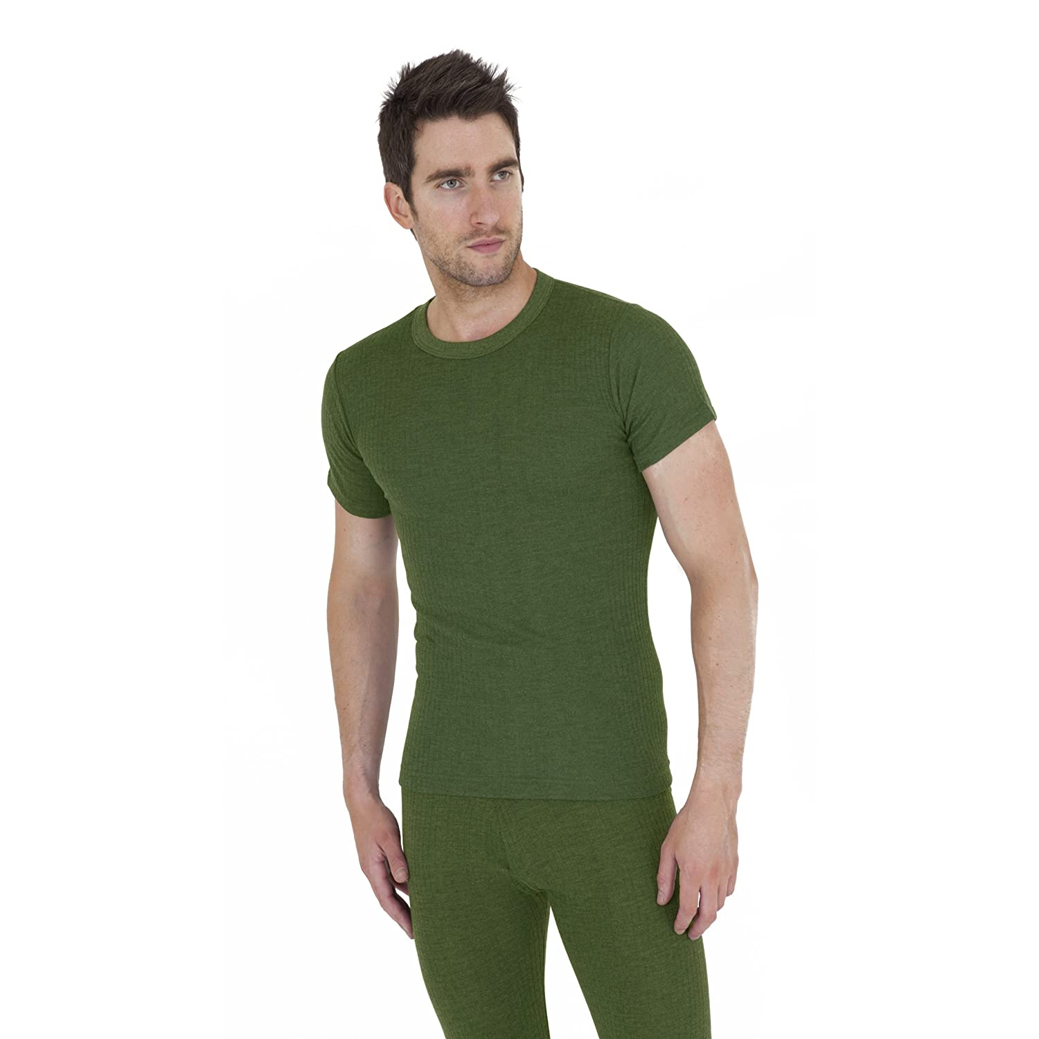 Mens Thermal Underwear Short Sleeve T Shirt (British Made)