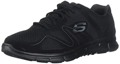 Skechers Sport Men's Satisfaction Flash Point Oxford,Black,6.5 ...
