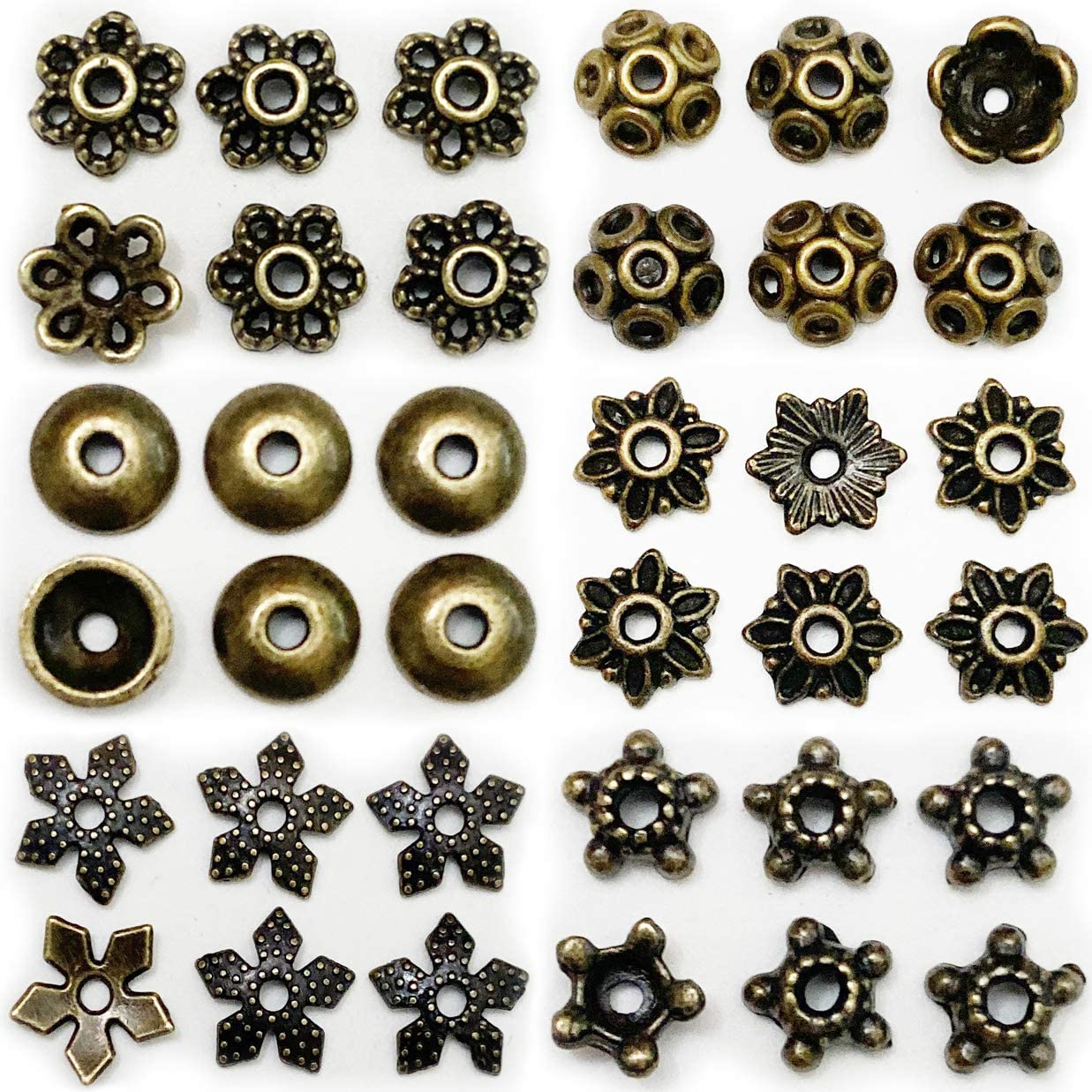 Zinc Alloy Nickel 50 pcs 13 mm Antique Bronze Bead Caps 13 mm bead cap antique bronze findings Lead free and Cadmium free