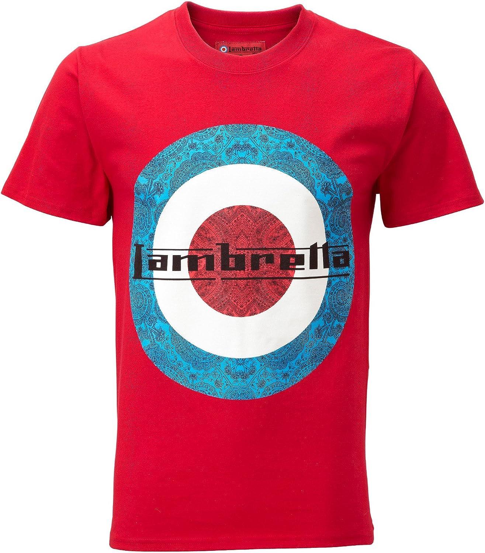 Lambretta - Camiseta - para hombre Rojo 54: Amazon.es: Ropa y accesorios