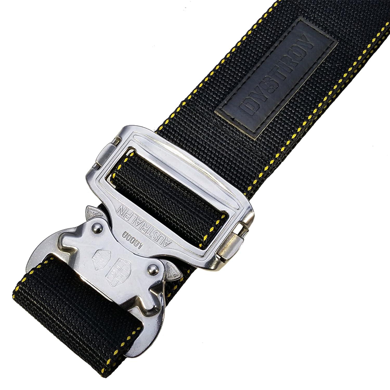 DYSTROY Handgenähtes Unikat MASTER BELT NAUTIC – der funktionsstarke Biker-Gürtel mit original AustriAlpin COBRA Buckle