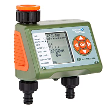 Programmatore Irrigazione A Batteria 9v 2 Zone Claber Timer