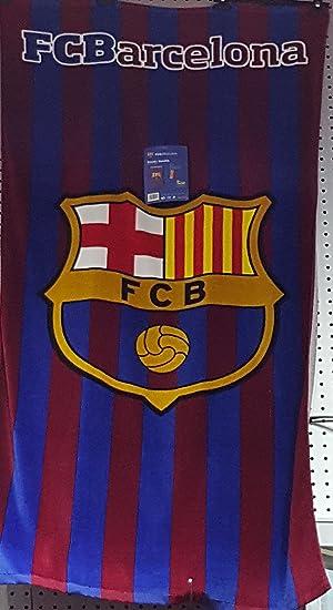 287| TOALLA DEL BARÇA FC Barcelona FCB PISCINA O PLAYA 100 X 75 CM: Amazon.es: Hogar