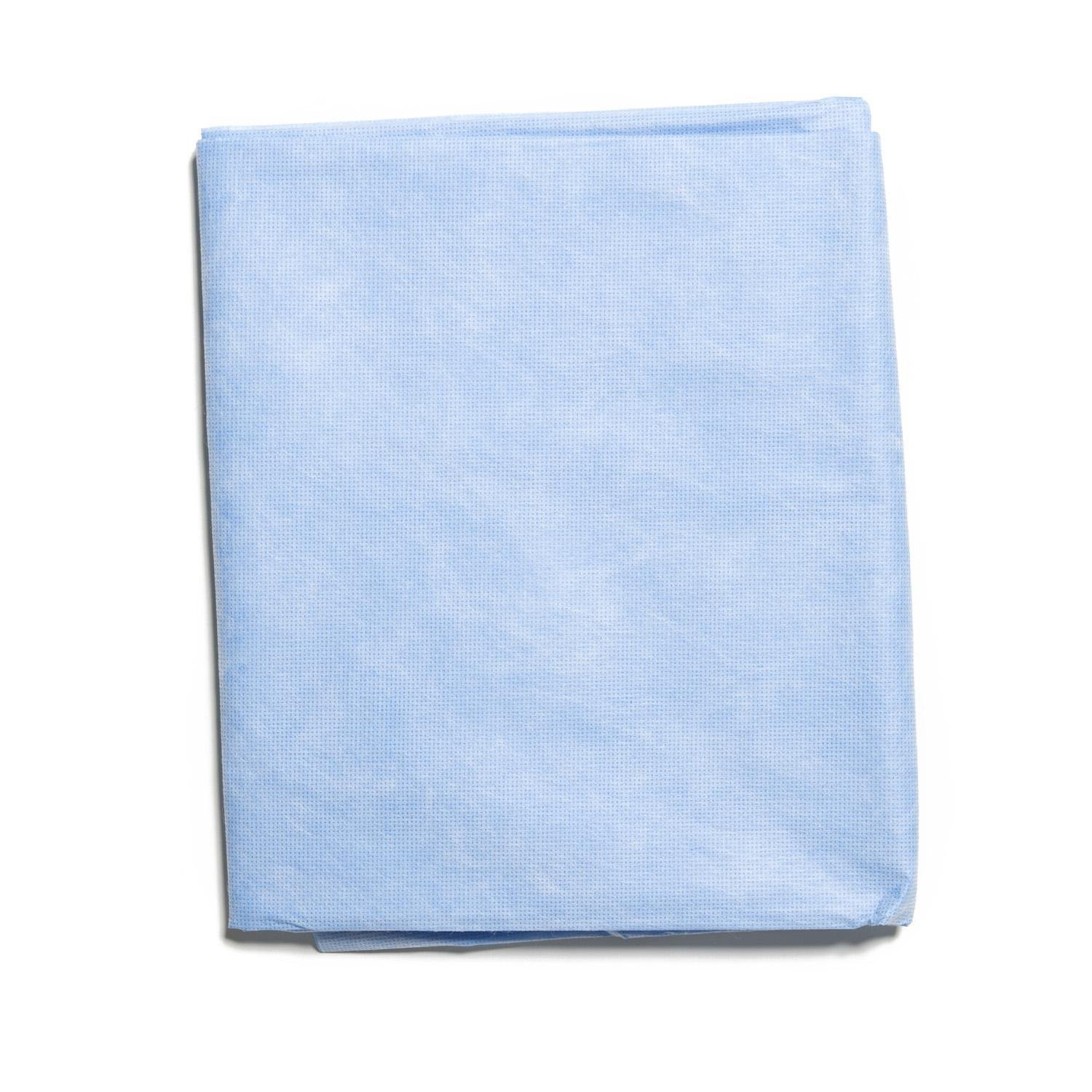HALYARD Flat Top Sheets, Disposable, 60 Inch x 96 Inch, Blue 67963 (Case of 30)
