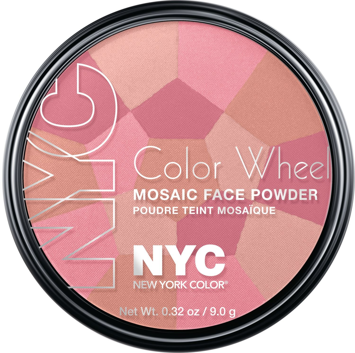 N.Y.C. New York Color, Color Wheel Mosaic Face Powder, Pink Cheek Glow, 0.32 Ounce Coty 27001063723