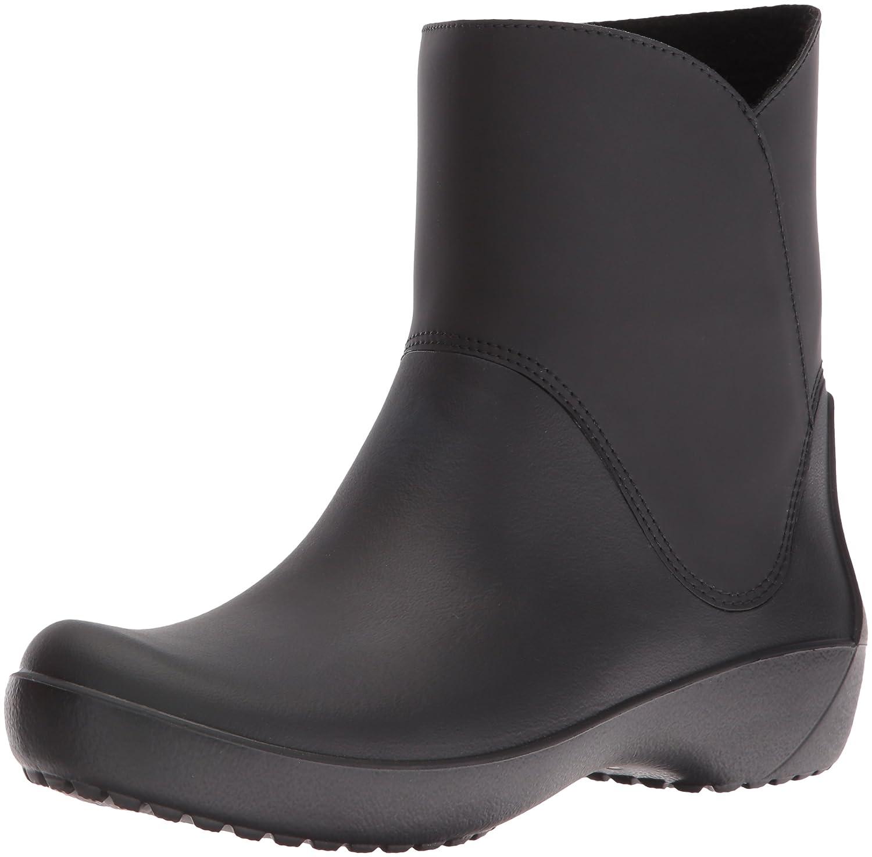 Schwarz(schwarz) crocs Damen RainfloeStiefelie Gummistiefel