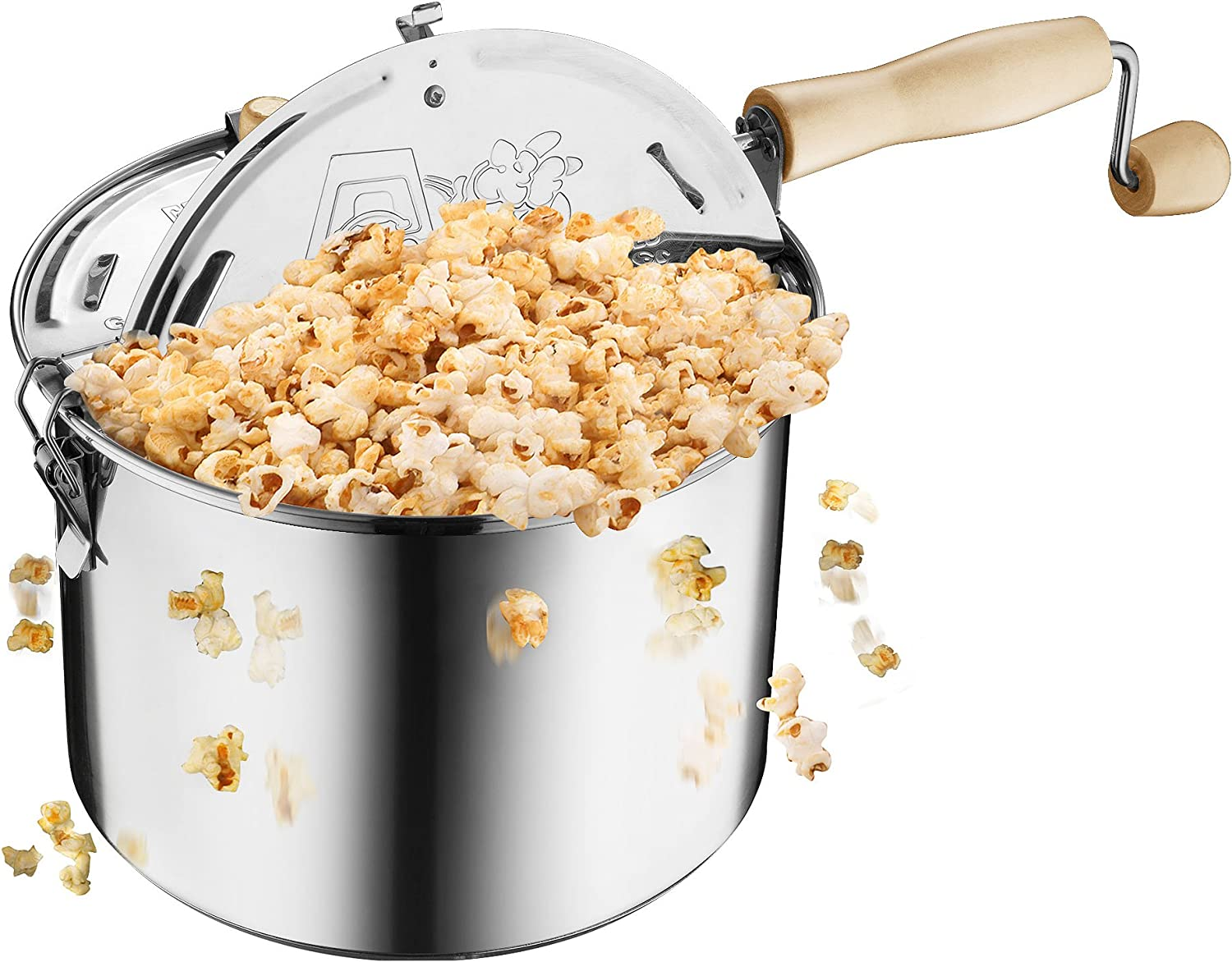 Amazon.com: Great Northern Popcorn Original Stainless Steel Stove Top  6-1/2-Quart Popcorn Popper: Electric Popcorn Poppers: Kitchen & Dining