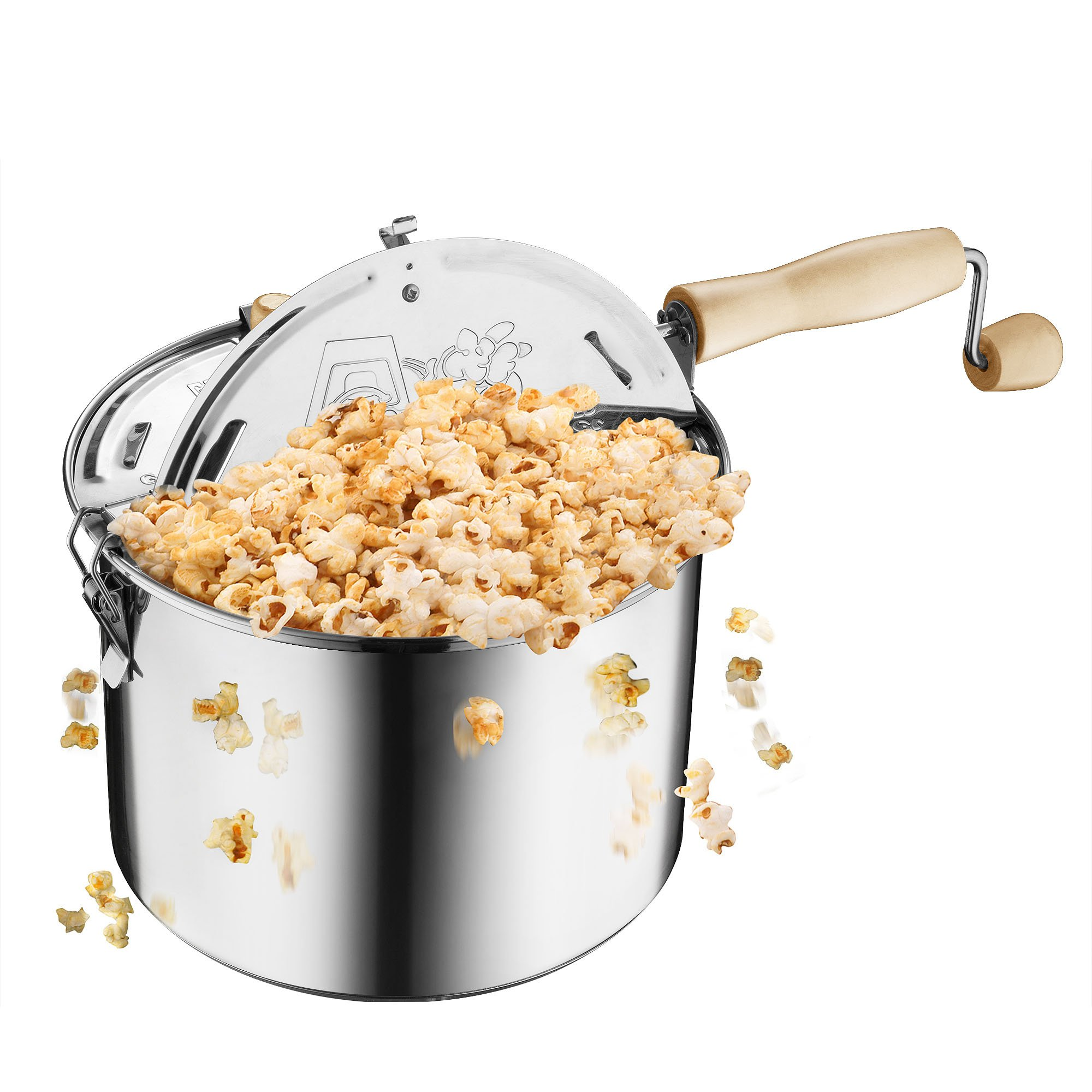 Great Northern Popcorn Original Stainless Steel Stove Top 6-1/2-Quart Popcorn Popper by Great Northern Popcorn Company