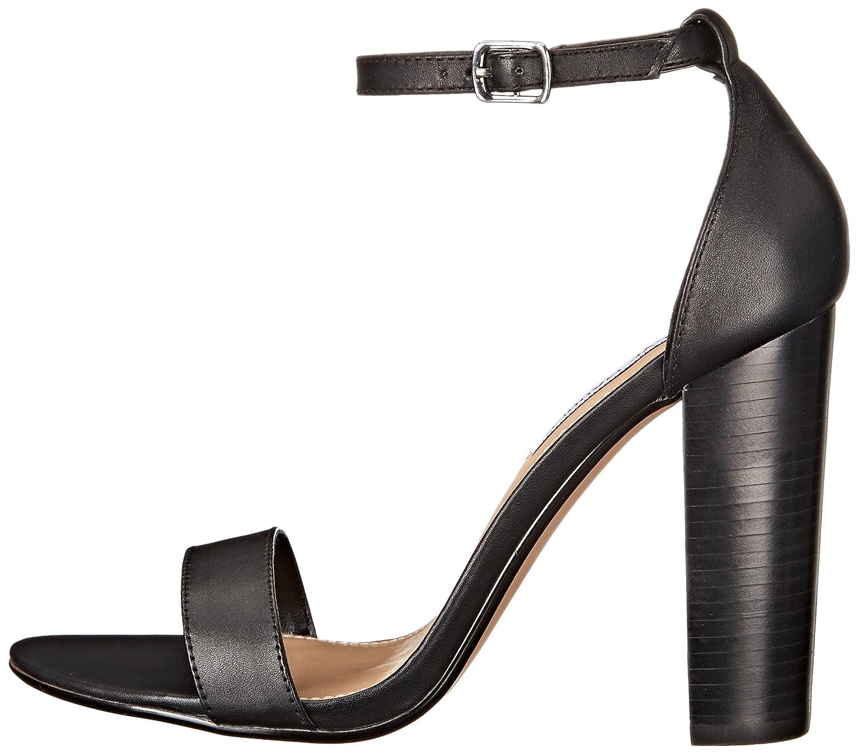 Steve Madden Women's Carrson Dress Sandal B016R8X0JQ 8 B(M) US|Black Leather